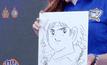 """แฟนบอลประมูลภาพวาดการ์ตูน """"ซึบาสะ"""" กว่าแสนบาท"""