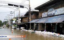 ระดับน้ำในอำเภอเมืองเพชรบุรีเริ่มลดลง