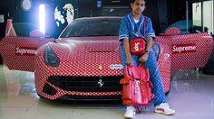 รวยเบอร์ใหญ่! มหาเศรษฐีดูไบ จัด Ferrari คัสตอมลาย Supreme X Louis Vuitton ให้ลูกชาย
