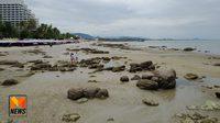 น้ำทะเลหัวหินลดต่ำสุดในรอบ 18 ปี หินโผล่เต็มหาดสมชื่อหัวหิน