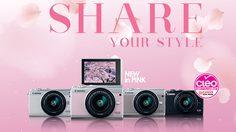 Canon เผยโฉมกล้องมิเรอร์เลส EOS M100 ซากุระพิงค์ ลิมิเตทอิดิชั่น สุดคิ้วท์ เอาใจสาวๆ