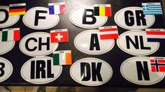 สติ๊กเกอร์ติดรถ รหัสชื่อประเทศสำหรับเดินทางต่างแดนโดย รถยนต์