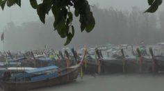 อุตุฯ เตือนฉบับที่ 6 ฝนตกหนักและคลื่นลมแรงบริเวณภาคใต้