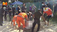 หลอนทั้งสมุย พบศพหญิงเร่ร่อนถูกฆ่าฝังทราย หาดละไม  !!