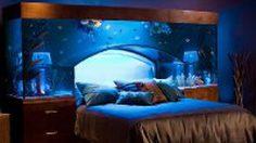 """เตียงนอนตู้ปลา ไอเดียแต่งห้องนอน ให้ความรู้สึกเหมือนอยู่ """"อควาเรียม"""""""