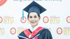 สมความตั้งใจ!!! ครีม ธิชาชา  สวมหมวก ดร. เข้ารับป.เอก มหาวิทยาลัยกรุงเทพธนบุรี