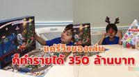 ของเด็กเล่น ก็ทำเงินให้หนูน้อยไรอันได้กว่า 350 ล้านบาท เพียงแค่นั่งรีวิวลงยูทูป