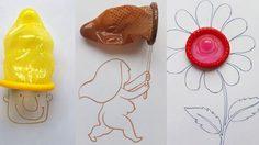 ศิลปินชาวอินเดีย สร้างผลงานศิลปะจาก ถุงยางอนามัย เพื่อรณรงค์เกี่ยวกับโรคเอดส์