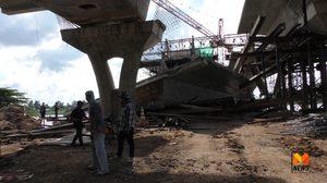 สะพานข้ามเจ้าพระยา จ.ชัยนาท ถล่ม มีผู้ได้รับบาดเจ็บ 4 สาหัส 3 ราย