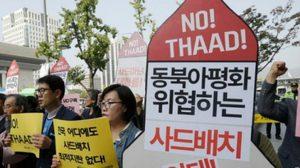 ชาวเกาหลีใต้ประท้วงต่อต้าน 'ระบบป้องกันขีปนาวุธ' ของสหรัฐฯ