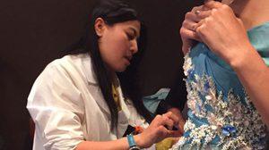 ชุดภาพ เบื้องหลัง สุดพิเศษ พระเจ้าหลานเธอ พระองค์เจ้าสิริวัณณวรีนารีรัตน์ ทรงงานออกแบบ ดีไซน์ชุดผ้าไหมไทย