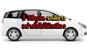 5 วิธีดูแล รถสีขาว อย่างไรไม่ให้เหลือง
