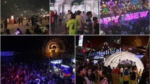 ประมวลภาพบรรยากาศแสงสีงานฉลอง ปีใหม่ ทั่วไทย
