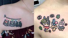 วัยรุ่นอินเทรนด์ Cartoon Tattoo สุดคิ้วท์