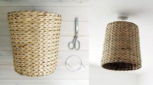 How – To D.I.Y โคมไฟ จาก ตะกร้าสาน ทำง่าย แถมสวย ดูแพง