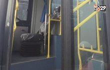 รถเมล์เอ็นจีวีโดนทุบ ก่อนส่งมอบ ขสมก.