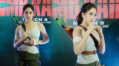 พรีม รณิดา โชว์ลีลาบู๊เป็น ลารา คลอฟต์ ในงานพรีเมียร์ Tomb Raider