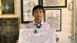 อามานี่ ศิลปินวัย 10 ขวบมีผลงานวาดภาพกว่าพันรูป