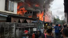 ระทึก! ไฟไหม้บ้านเรือนประชาชน ซ.จรัญสนิทวงศ์ 65 ชาวบ้านหนีตายวุ่น