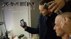 โปรเฟสเซอร์เอ็กซ์ ดูตัวเองในวัยหนุ่มโกนศีรษะ ในคลิปเบื้องหลัง X-Men: Apocalypse
