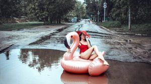 น้ำท่วมดีนักใช่มั้ย!! นางแบบ ชาวรัสเซีย ก็เลยสลัดผ้าถ่ายแฟชั่นมันตรงนั้นซะเลย