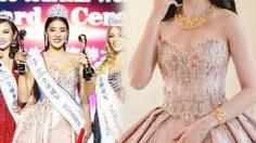 สแปม สวมชุดปักคริสตัล 40,000 เม็ด คว้ามงกุฎ Miss All Nations 2017