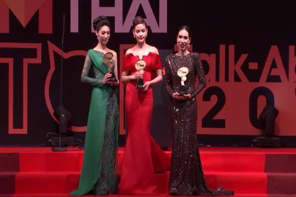 เดียร์ ดาริน -ปุ๊กลุก - รัดเกล้า ได้รับรางวัล MThai Top talk-about Actress 2016