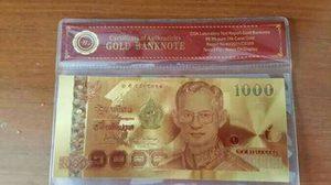 อย่าหลงเชื่อ! ธนบัตรปลอมเคลือบทองนำเข้า ฉวยโอกาสขายราคาเเพง
