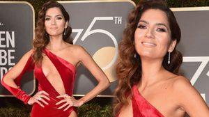 บลังกา บลังโก โนสน โผล่งาน Golden Globes ด้วยชุดแดง แหกโค้งธีมชุดดำ!!