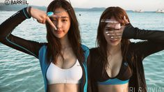 Yuri เกิร์ลเจนฯ ควง Vivian มาอวดหุ่นสุดเซ็กซี่ในการถ่ายชุดว่ายน้ำริมทะเล
