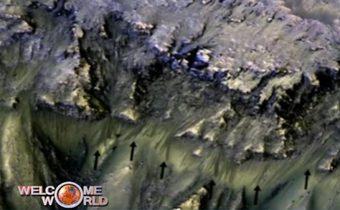 NASA เผยพบร่องรอยน้ำเค็มบนดาวอังคาร