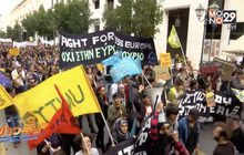 ประท้วงต่อต้านการเหยียดเชื้อชาติในกรีซ