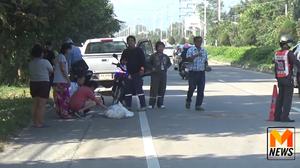 อุทาหรณ์! ชายวัย 82 ปี สะดุดเกาะกลางถนน ถูกกระบะชนดับ