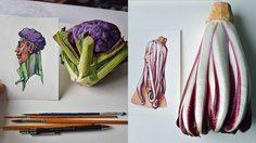 ไอเดียวาดภาพจากผักและผลไม้ กลายเป็นผลงานภาพวาดสีน้ำที่เจ๋งเวอร์