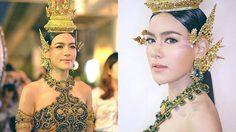สวยสะกด! คิมเบอร์ลี่ในชุดไทย กิริณีเทวี นางสงกรานต์ 2017