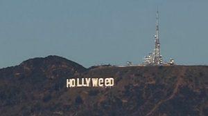 มอบตัวแล้ว มือดีเปลี่ยนป้าย Hollywood อ้างปลุกกระแสเรื่องกัญชา