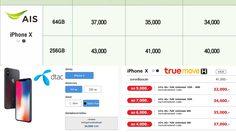 รวมโปรโมชั่น iPhone X จาก 3 ค่ายมือถือ เริ่มต้น 32,000 บาท!!