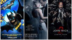 Fifty Shades Darker เปิดตัวแรงรับวาเลนไทน์ในอันดับสองของบ็อกซ์ออฟฟิศสหรัฐฯ