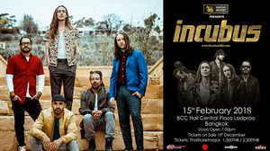Singha Music presents Incubus Live in Bangkok 2018