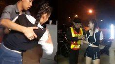 สาวเมากร่างใส่ตำรวจ ท้าเป่า ลั่นถ้าแอลกอฮอล์ไม่ขึ้น ยอมกราบเท้า