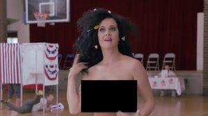 ดูแล้วอย่าเอาอย่าง! Katy Perry แก้ผ้าไปเลือกตั้ง!!