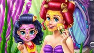 เกมส์แต่งตัวนางเงือกน้อย 2 คน Ariel Memmy Real
