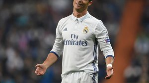 MADRID, SPAIN - OCTOBER 18: Cristiano Ronaldo of Real Madrid during the UEFA Champions League Group F match between Real Madrid CF and Legia Warszawa at Bernabeu on October 18, 2016 in Madrid, Spain. (Photo by Visionhaus/Corbis via Getty Images)