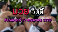 โปรแกรมมวยไทยวันนี้ วันอังคารที่ 17 เมษายน 2559