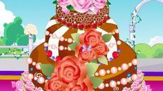 เกมส์ทำเค้ก แต่งงานดอกไม้กุหลาย Rose Wedding Cake