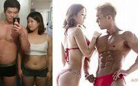 คู่รักเกาหลีลดน้ำหนัก แค่ 4 เดือน เปลี่ยนไป อย่างคนละคน