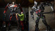 Sebastian Kucharski ศิลปินโปแลนด์สร้างหุ่นยักษ์ทรานฟอร์เมอร์จากเศษเหล็ก