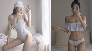 ตามหากันให้ควั่ก! สาวหุ่นเซี้ยะ บิกินีสีขาว ที่แท้เป็น เจ้าของแบรนด์ชุดว่ายน้ำ