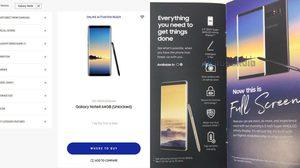 Samsung เผยข้อมูล Galaxy Note 8 บนเว็บไซต์ทางการแบบเต็มๆ