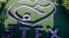 พร้อมเพรียงมาก โรงเรียนเซนต์ฟรังซีสเซเวียร์ ร่วมแปลอักษรเลข ๙ ยืนสงบนิ่ง ๘๙ วินาที